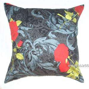 20 BROWN FLORAL 100%COTTON CUSHION COVER PILLOW CASE