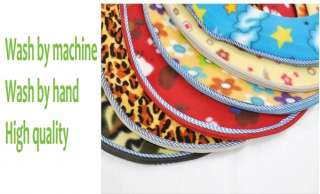Bathroom Warme Toilet Seat Cover Washable Cloth Seat Pads pattern