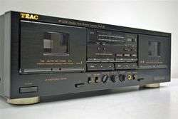 Teac Stereo Dual Cassette Deck Tape Player Recorder W 525R
