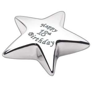 Star Paperweight with Phrase Happy 18th Birthday: Home & Kitchen