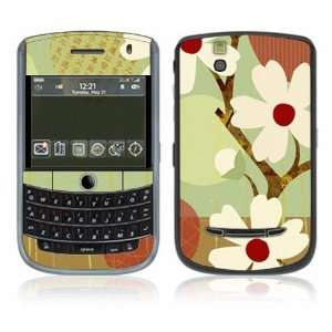 Asian Flower Decorative Skin Cover Decal Sticker for Blackberry Tour