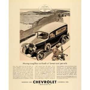 1933 Ad General Motors Chevrolet Car Old Gold Cigarette