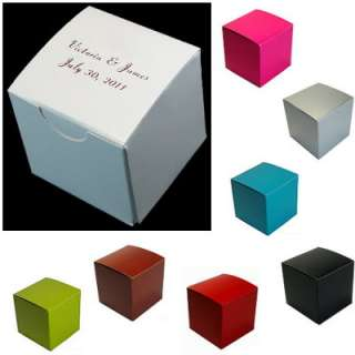 Personalized Candy Wedding Favor Treat Box 2x2 100 Custom bxs