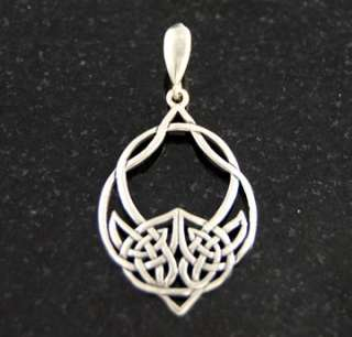 Sterling Silver Celtic Circle Pendant Charm .925 Solid Jewelry
