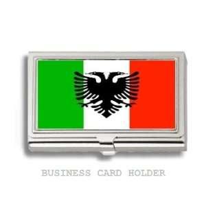Arbereshe Albanian Flag Business Card Holder Case