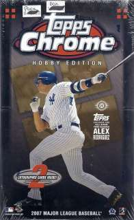 2007 Topps Chrome Baseball Factory Sealed Hobby Box