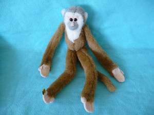 Wild Republic Hanging Plush Brown Monkey Velcro Stuffed