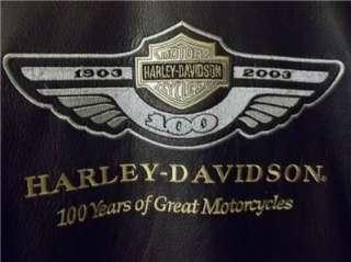 Harley Davidson Leather Jacket 100th Anniversary Medium, runs Large
