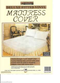 NEW VINYL WATERPROOF FITTED MATTRESS COVER   TWIN