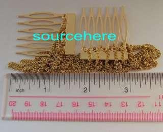Chic Metal Hair Cuff Gold / Silver Tone Comb Fringe Chains Hair Band