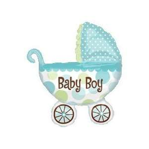 Baby Boy Buggy Shower Balloon Super Shape Toys & Games
