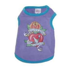 Puppy Love Forever Tattoo Style Purple Dog Tank Top Shirt at THE REGAL