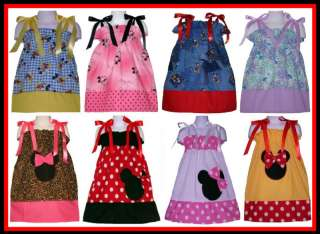 PILLOWCASE DRESS DISNEY MICKEY MINNIE MOUSE BOUTIQUE