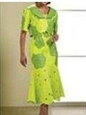 NEW LISA RENE WOMENS 2 PC DESIGNER DRESS w/JACKET Size 22W GREEN Fully