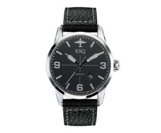 by Movado Mens Swiss Black Leather Strap Beacon Watch 07301392