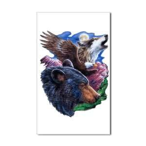 Sticker (Rectangle) Bear Bald Eagle and Wolf: Everything Else