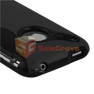 Rubber Soft Case Cover+Privacy Filter Film for iPhone 3 G 3GS
