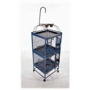 Double Stack Bird Cage for Medium Parrots AE: Pet Supplies