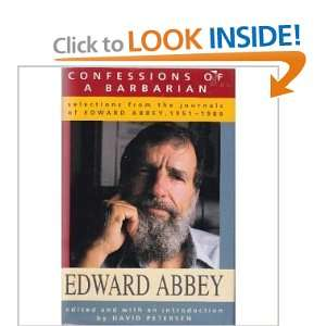 Confessions of a Barbarian: Selections from the Journals of Edward