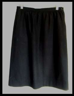 100% Wool Skirt Womens SZ 6 Petite Black linned