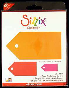 TAGS, TRADITIONAL COMBO DIE, 654688, SIZZIX ORIGINALS