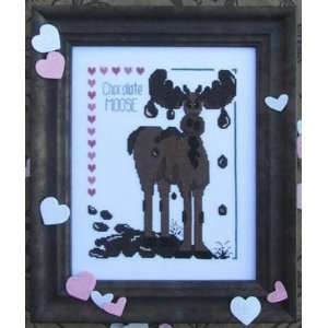 Chocolate Moose   Cross Stitch Pattern: Arts, Crafts