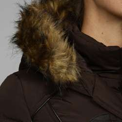 Miss Sixty Womens 3/4 toggle Knit Bibby Faux Fur Hooded Coat