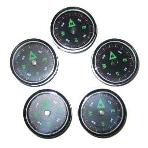 27 mm Air Filled Survival Button Compasses   Set of 5