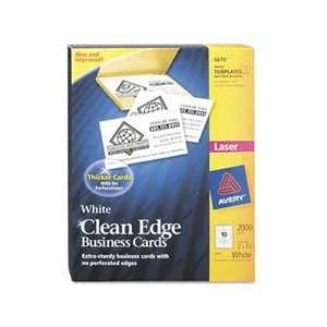Avery Clean Edge Laser Business Cards, White, 2 x 3.5 Inches, Box of