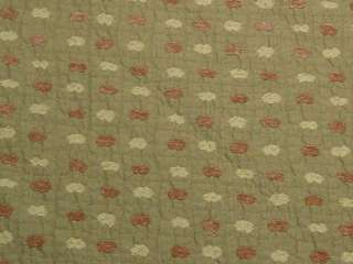 Modern Retro Green Gold Brown Upholstery Fabric bty