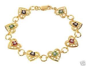 96ctw Diamond, Ruby Emerald Sapphire Tennis Bracelet