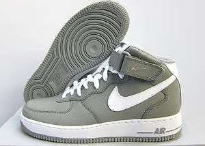 NEW MENS NIKE AIR FORCE 1 MID 07 [315123 008] MEDIUM GREY WHITE