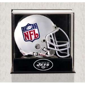 York Jets Mini Helmet Display Case   Wall Mounted