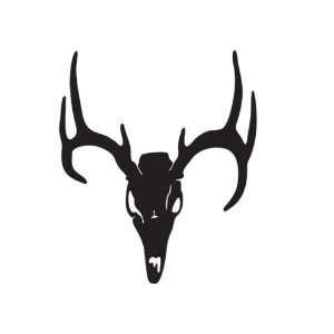 Deer Skull Deer Car Truck Vehicle Bumper Helmet Decal Sticker Wall Art