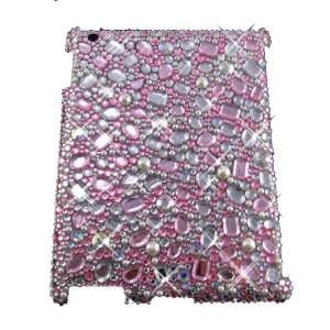 PINK 3D Crystal Ipad 2 with Rhinestones & Gems Bling case