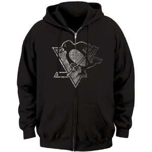 Majestic Pittsburgh Penguins Black Official Logo Full Zip