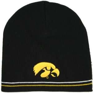 Iowa Hawkeyes Black Open Shot Knit Beanie