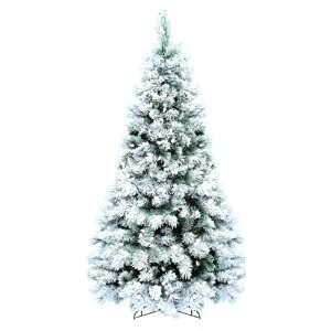 GKI Bethlehem 7.5 Flocked Boulder Pine Prelit Christmas Tree