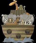 NOAHS ARK ZEBRA GIRAFFE TURTLE BABY NURSERY WALL PRINTS