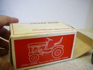 Old Patio Red White John Deere 140 Ertl Lawn Garden Toy Tractor