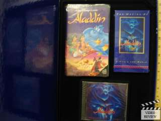 Aladdin Collectors Edition * Rare * VHS * CD * Book *