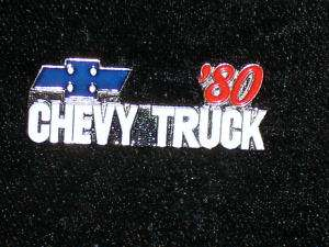 1980   1991 CHEVY TRUCK   hat pin, lapel pin, tie tac