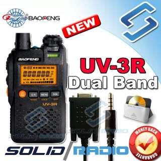 BaoFeng UV 3R dual band mini ham radio + Program cable