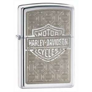 Harley Davidson Machine Etched Zippo Lighter, High Polish