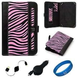 Edition Pink Zebra Executive Leather Folio Case Cover for Lenovo