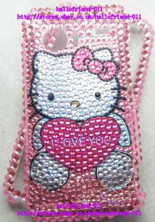 Hello kitty Bling Case Cover For HTC Droid Incredible 6300 #2