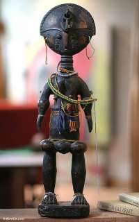 FERTILITY DOLL African ART Wood Sculpture DAWAYO TRIBE