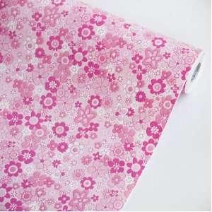 Pink Flowering Shrubs   Self Adhesive Wallpaper Home Decor