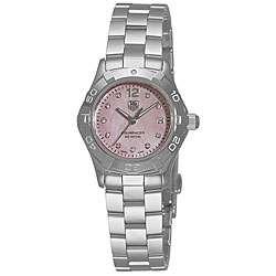 Tag Heuer Womens Aquaracer Stainless Steel Pink Diamond Watch