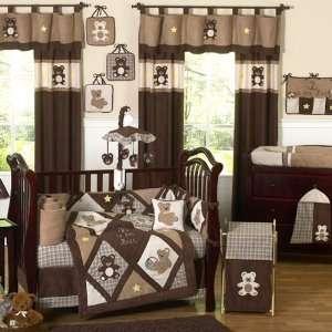 Teddy Bear Chocolate 9 PC Crib Bedding Set